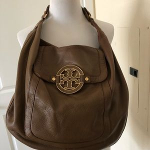 Tory Burch tumbled leather hobo shoulder bag